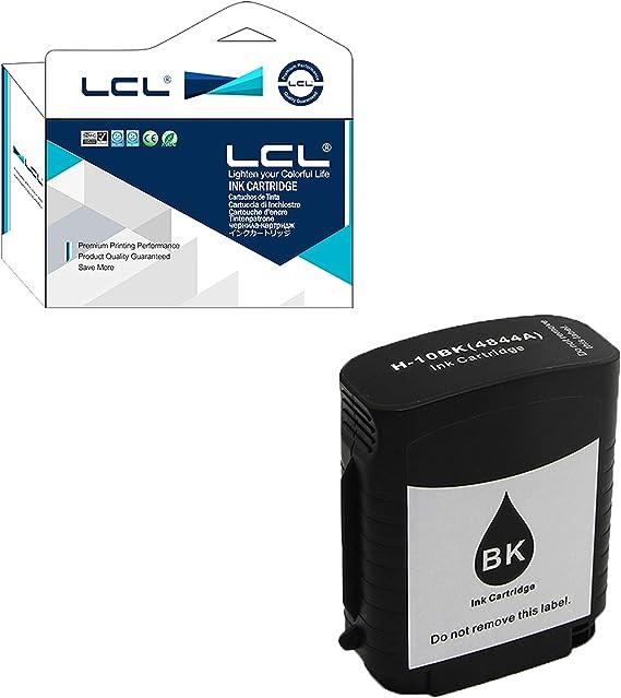 Versión Profesional LCL Compatible Cartucho de Tinta 10 C4844A C4844AE C4840A (1Negro) Reemplazo para HP Designjet 500 800 OfficeJet Pro K850 K850dn: Amazon.es: Electrónica