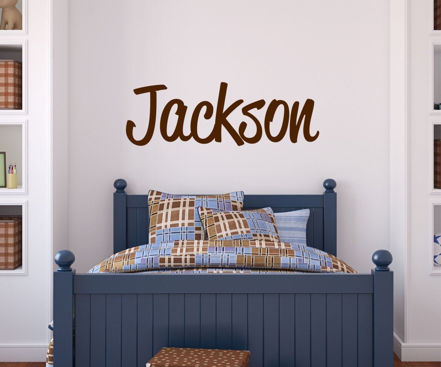 Amazon boys name wall decal personalized name custom wall amazon boys name wall decal personalized name custom wall decal handmade amipublicfo Gallery