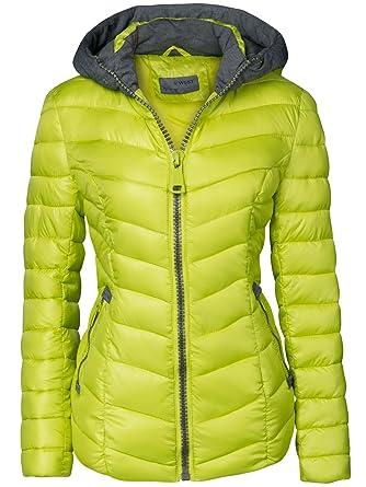 Damen STEPP Jacke Winter ÜBERGANGSJACKE Herbstjacke KURZ Kapuze Skijacke   Amazon.de  Bekleidung aa459797ca