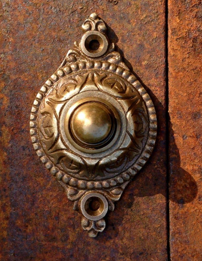 /Serre-joints ferrures sonnerie /Sonnette de porte Sonnette Porte Collier laiton brillant/ antikas/