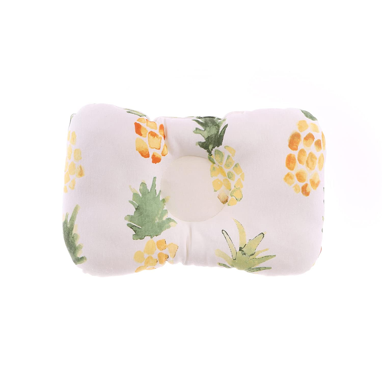 Organic Head Shaping Nursing Baby Pillow for Newborn/Infant, Protection from Flat Head Syndrome, Plagiocephaly (Pineapple)