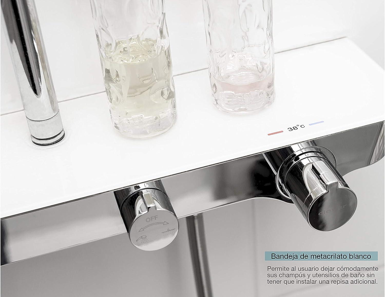 Nine Elegance - Columna ducha extensible termostática, incluye ...