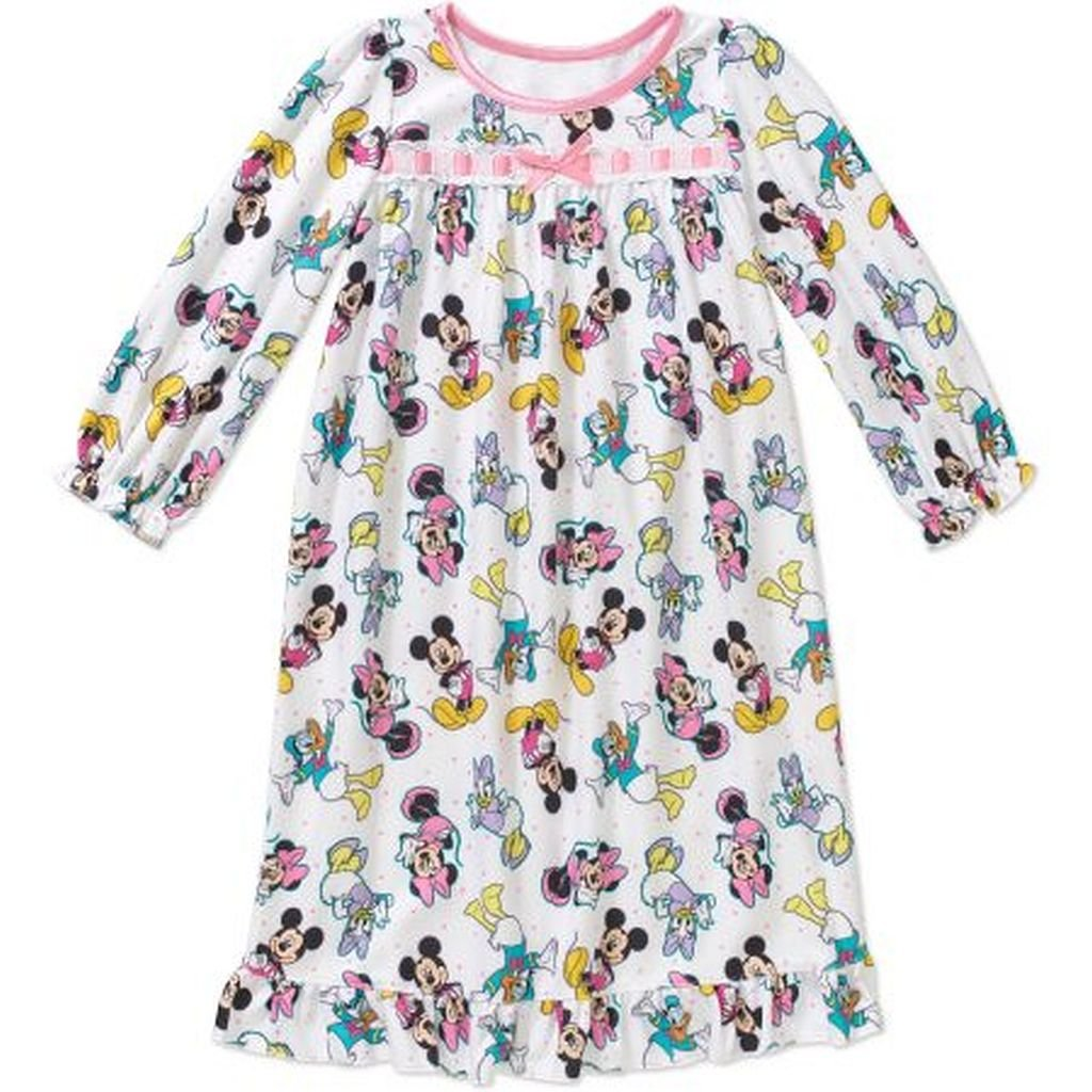 Minnie, Mickey, Daisy and Donald Girl's 4T Flannel Nightgown, Gown