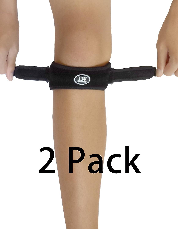 Dos LW rótula correa rodilla banda soporte support (paquete de 2) rodilla alivio del dolor desde del puente del corredor (condromalacia) de la rodilla la rodilla la enfermedad (tendinitis patelar) Osgood de-Schlatter (L/XL) LW Co 3000101