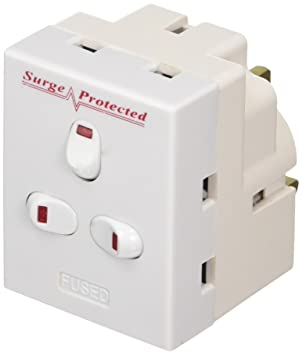 ct 13 A 3 Way 3 Gang Switched Surge Protected Plug-In: Amazon.co.uk ...