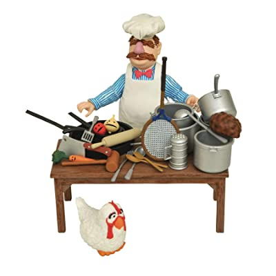 DIAMOND SELECT TOYS The Muppets: Swedish Chef Deluxe Figure Set: Toys & Games