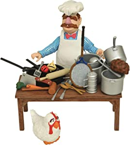 DIAMOND SELECT TOYS The Muppets: Swedish Chef Deluxe Figure Set,Multi-color