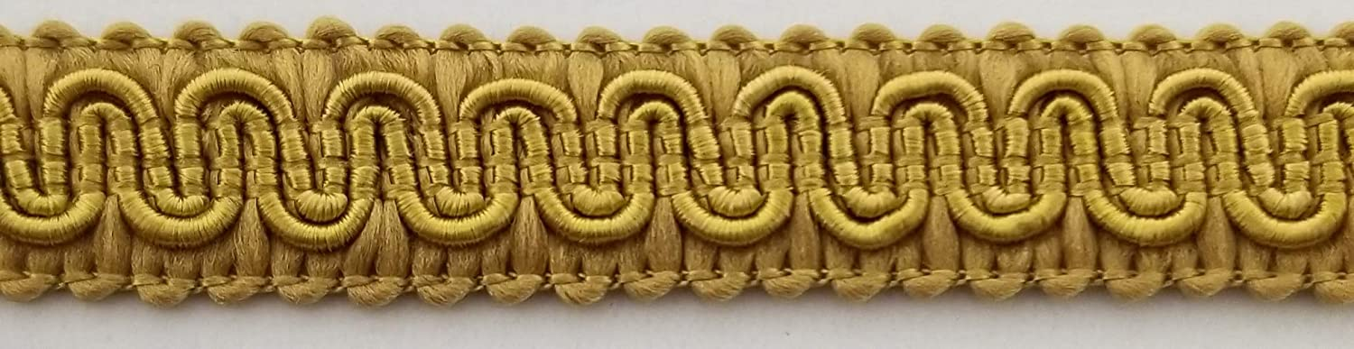 1//2 Scroll Braid Gimp w//Backing Many Color Options! Yellow 12 Continuous Yards