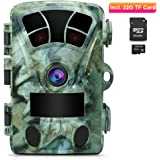 AIMTOM T905 Hunting Trail Camera With 32G SD Card, 2Pcs No Glow Super Power IR LEDs 2.4 Inch Screen 16MP 1080P Stealthy Waterproof Wildlife Game Cam 130° Wide Angle 0.2S Fast Trigger 82Ft Night Vision