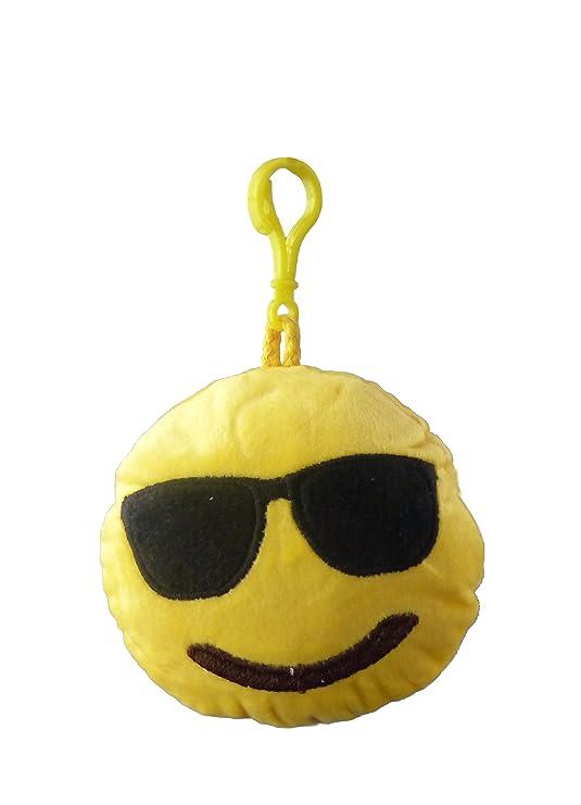 emotives redondo peluche Emoji bolsa etiqueta - 12 cm ...
