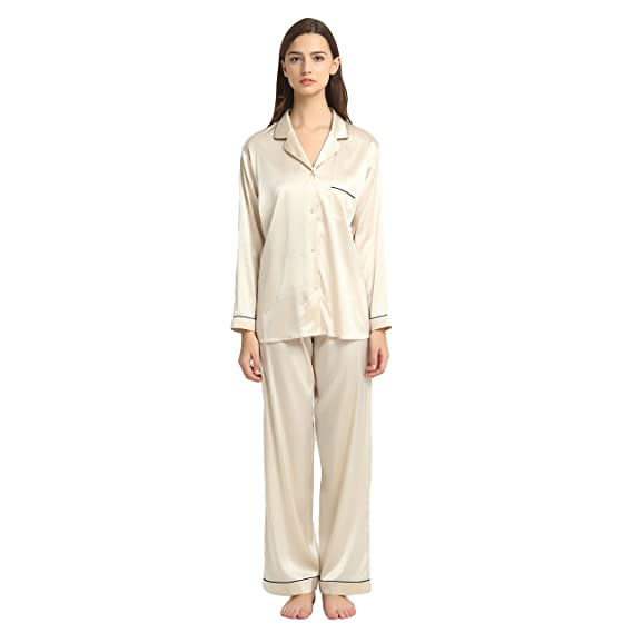 31c8fe214d JASMINE SILK Ladies  Pure Silk Pyjamas Set Nude  Amazon.co.uk  Clothing