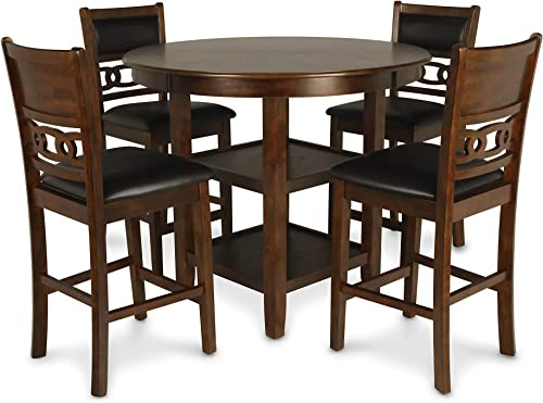 AVAT5-BLK-W 5 Pc Dining room set-Oval Dining with Leaf and 4 Dining Chairs