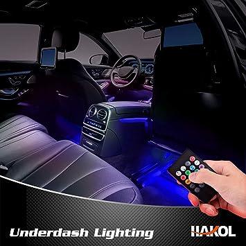 Luces LED de Interior de Auto Por Hakol | Kit de iluminación debajo del tablero de ...