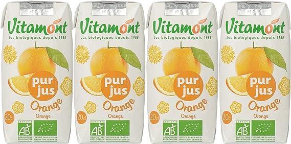 Vitamont(ヴィタモン) オレンジジュース 200ml×4個