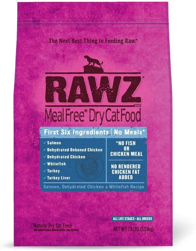 Rawz Meal Free Dry Natural Cat Food (Chicken & Whitefish, 7.8 lb.)