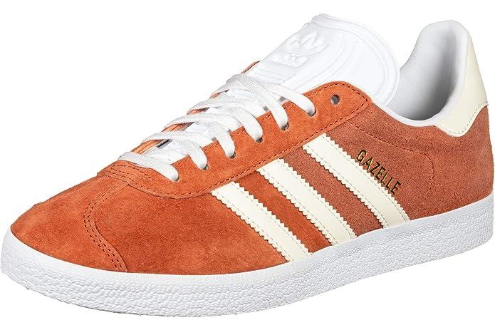 adidas Damen Gazelle Sneaker Orange (Rawamb) mit weißen Streifen