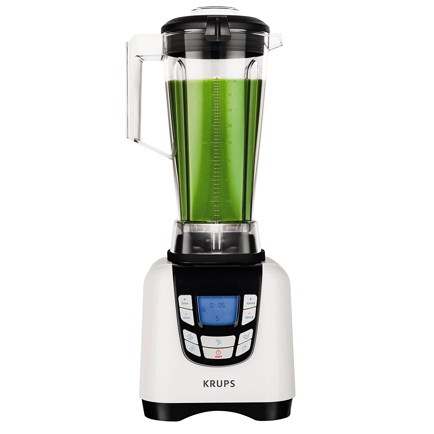 Krups kb7021 batidora High Speed, 2 L, 1500 W, Plata/Negro: Amazon.es: Hogar