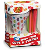 Jelly Belly JB15928 20 Disposable Snow Cone Cups and Straws