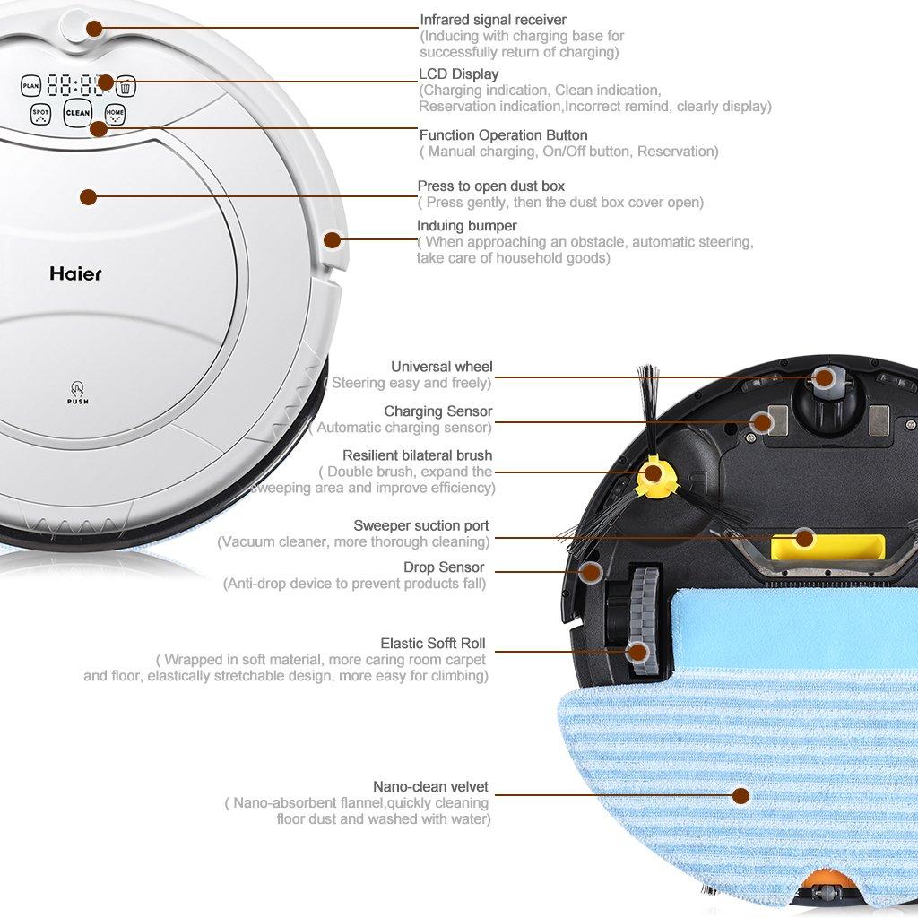 Haier T320-Robot aspirador: Amazon.es: Hogar