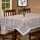 Cloth Fusion Cotton 6 Seater Table Cover (60x90 inches, CFWWTL11)