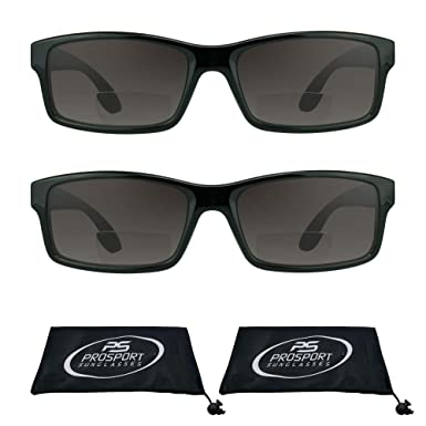 b578e286d13d Amazon.com  proSPORT Rectangle Bifocal Sunglasses for men and women ...