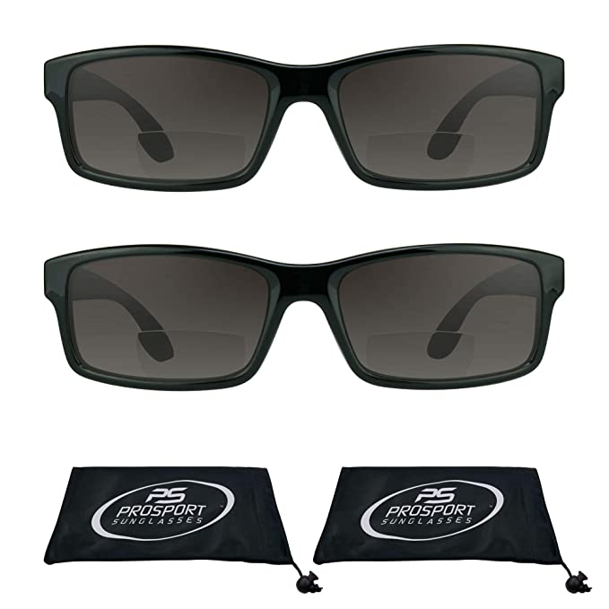Amazon.com: Rectángulo – Lupa bifocal anteojos de sol Para ...