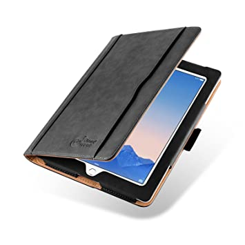 JAMMYLIZARD - Funda de Piel para iPad 4 (con Retina Display), iPad 3 y iPad 2, edición original Smart Case, color negro, canela