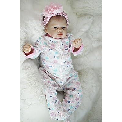 "OtardDolls Reborn Doll 22\"" Reborn Baby Doll Lifelike Soft Vinyl Doll Children Gifts (Snowflake Girl): Toys & Games [5Bkhe0201768]"