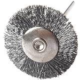 Bristle Buerste - SODIAL(R) 12 Stuecke 1/20,32 cm 25 mm Rad Bristle Buerste aus Edelstahl fuer Dremel Werkzeug