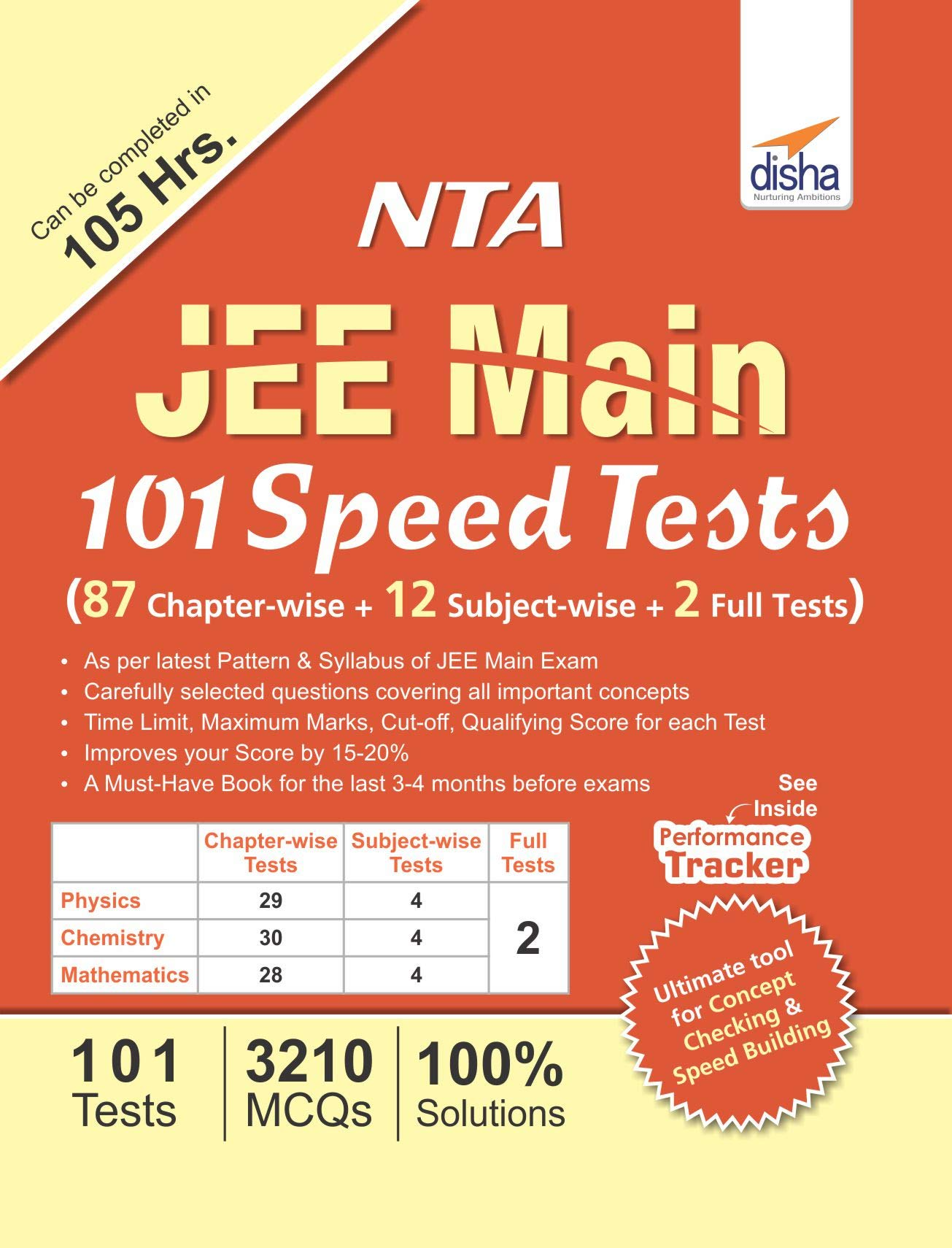 Buy NTA JEE Main 101 Speed Tests (87 Chapter-wise + 12