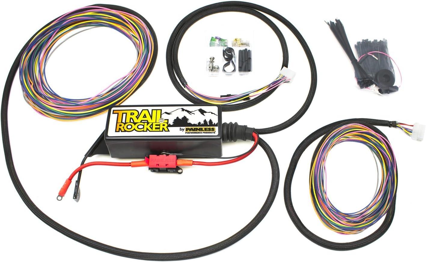 painless performance wiring diagram amazon com painless performance 57005 trail rocker relay center  painless performance 57005 trail rocker