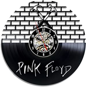 Pink Floyd Music Band Vinyl Wall Clock-Unique Home Decor That Will Suit to Any Interior - Handmade Gift for Birthday Anniversary or Any Other Occasion Gift for Him Gift for Her