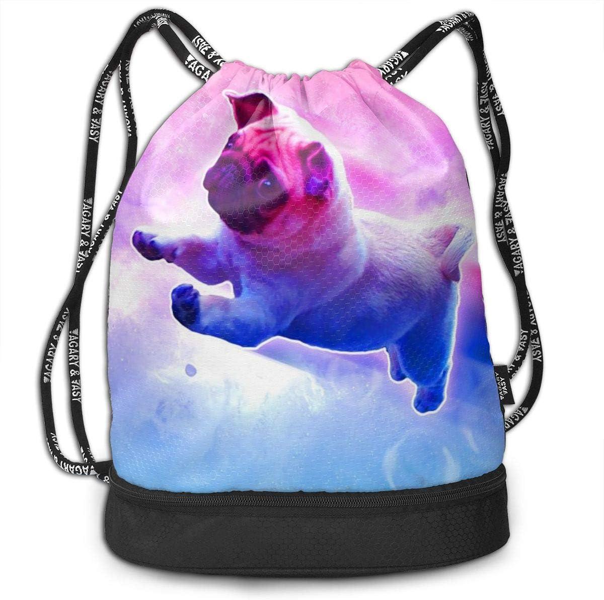 GymSack Drawstring Bag Sackpack Fantasy Rainbow Dog Sport Cinch Pack Simple Bundle Pocke Backpack For Men Women