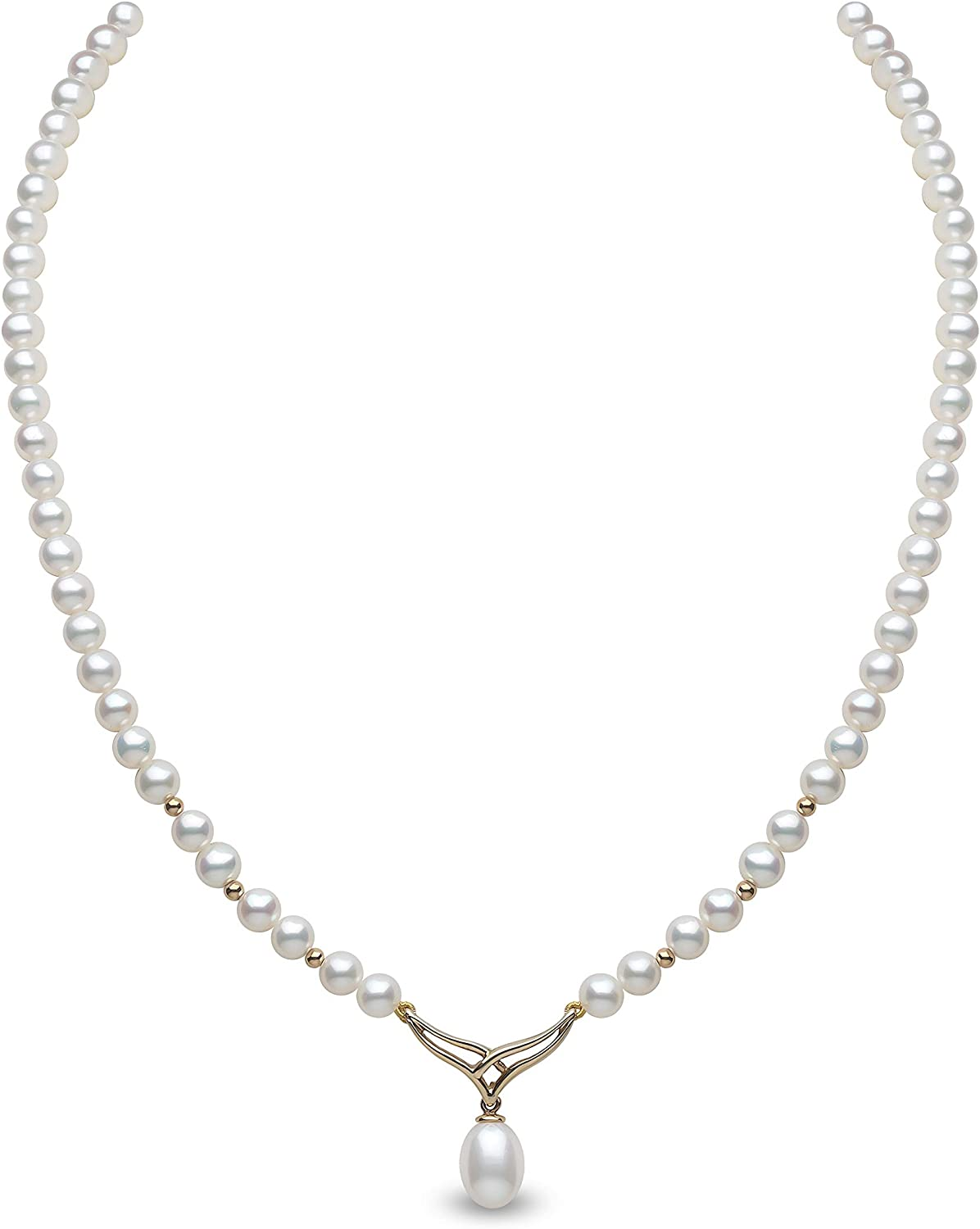 """17.5/"""" Peach Pink Cross Pendant Freshwater Pearl Necklace Black Rope AC"""