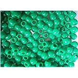 Lot de 50 perles Couleur Vert foncé pour création bracelet Rainbow Loom Bands
