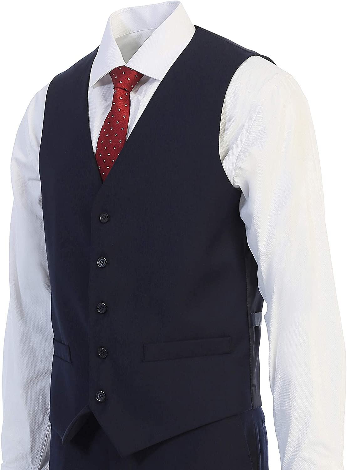 King Formal Wear Elegant Mens Modern Fit Three Piece Two Piece Two Button Suits Many Colors/…