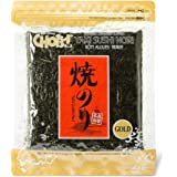[Manufactured: July 2018] Daechun Sushi Nori (50 Full Sheets), Resealable, Gold Grade, Product of Korea