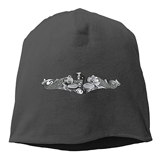 2f0a84dd08c Image Unavailable. Image not available for. Color  US Navy Submarine  Insignia Unisex Skull Toboggan Knit Hat ...
