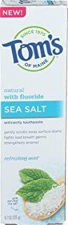 product image for Tom's of Maine Refreshing Mint Sea Salt Anticavity Toothpaste, 4.7 oz, 1Count