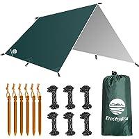 Etechydra Camping Tent Tarp Waterdichte Onderdak, Draagbare Lichtgewicht Regen Vliegvel Tent Tarp Voor Backpacken…