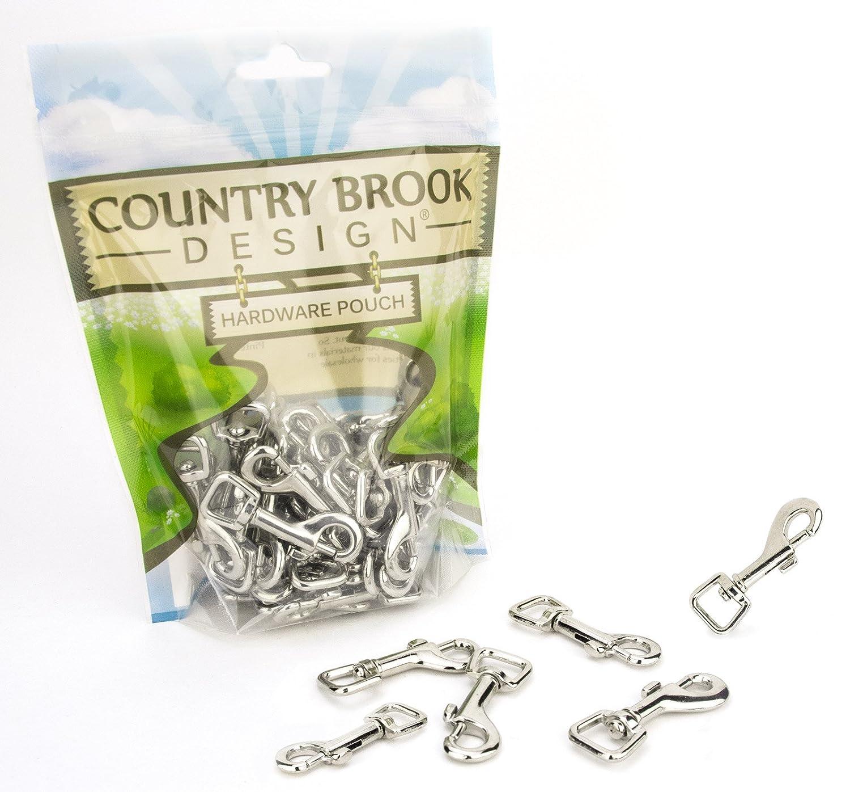 Country Brook Design 1/2インチ スイベルスナップフック 100 Pack シルバー HS-NIC-1.2-100 100 Pack  B003XVI36Q
