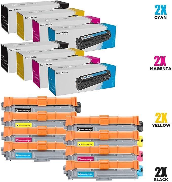 SHZJZTN-241 TN-245 Cartuchos de Tóner, 8 Paquetes Compatibles para Brother DCP-9020CDW HL-3140CW HL-3150CDW HL-3170CDW MFC-9140CDN MFC-9330CDW MFC-9340CDW DCP-9015CDW HL-3142CW MFC-9130CW,8p: Amazon.es: Electrónica