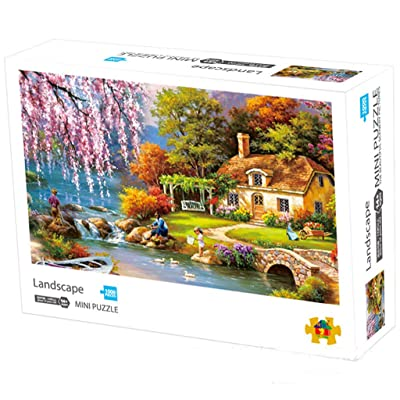 Darkduke -Classic Jigsaw Country House Puzzle 1000 Piece Adult Children Puzzle DIY Puzzle Modern Home Decor Festival Gift Intellectual Game Wall Art(B): Toys & Games