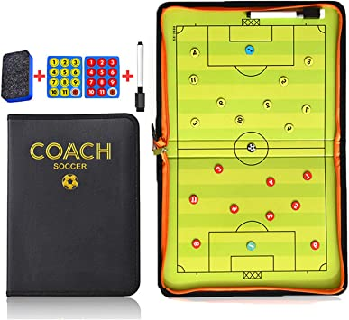 NEW Portable Basketball Coaches Tactic Folder Magnetic Tactics PU Leather Board