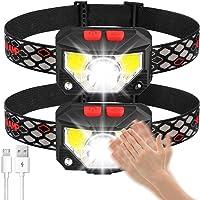 Soft Digits Headlamp Flashlight, 1000 Lumens USB Rechargeable Headlight, 8 Modes Work Light, Waterproof Head Lights with…