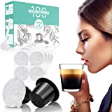 CAPMESSO Reusable Espresso Capsules -Refillable Capsule Coffee Pods Filters Reusable 200 Times Compatible with Nespresso…