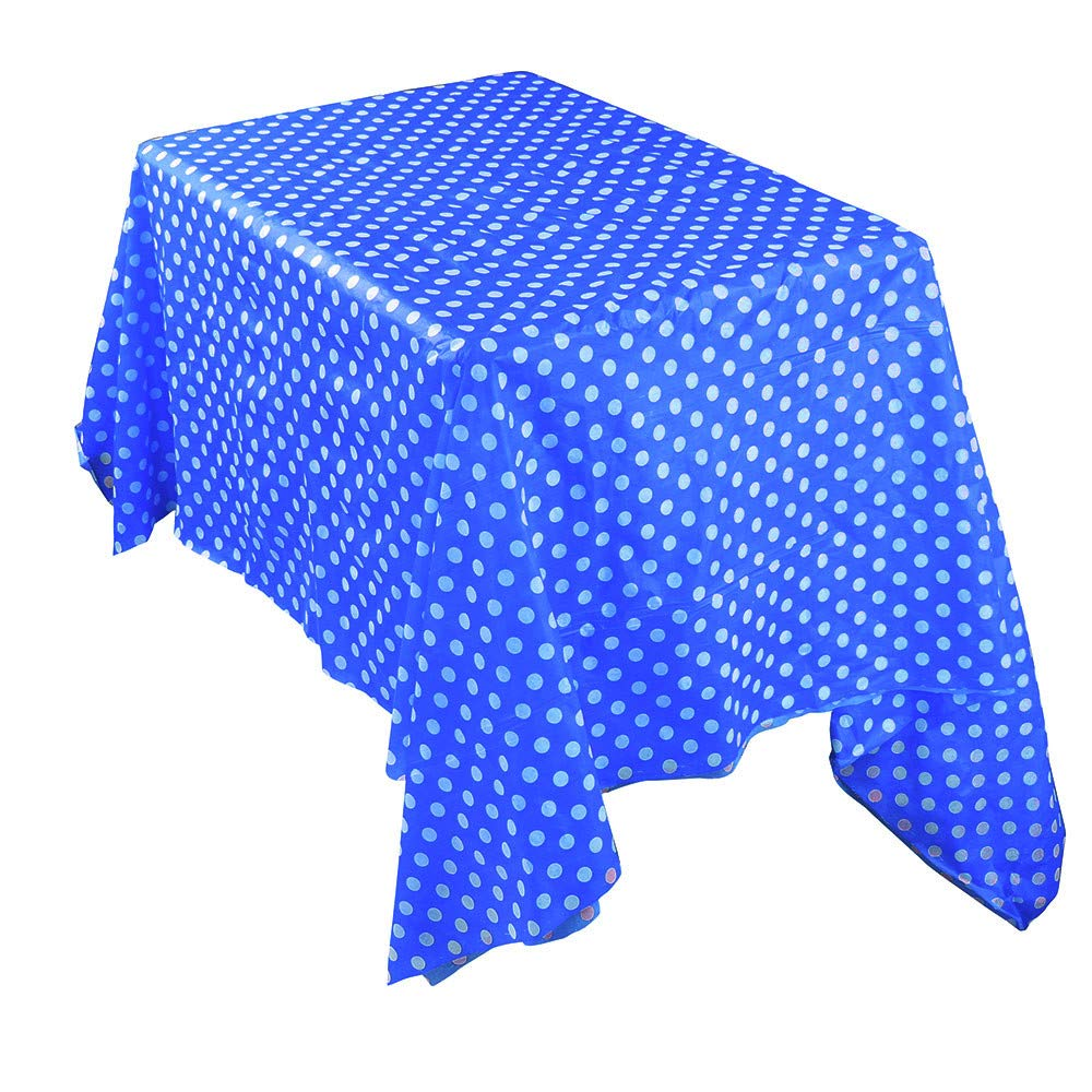 YIYEZI Plastic Table Covers Waterproof Oilproof Table Cloth Party Events Catering Tableware Supplies 137 * 274CM (Blue)