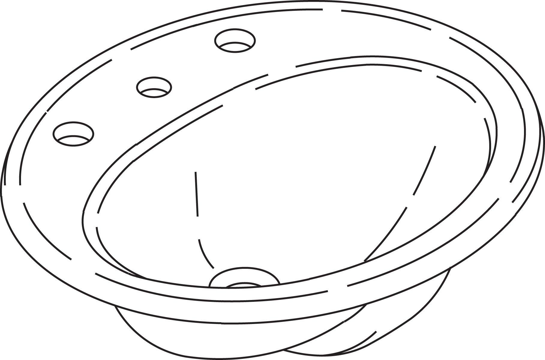KOHLER K-2196-8-0 Pennington Self-Rimming Bathroom Sink, White by Kohler (Image #4)