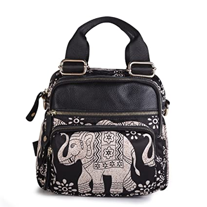Amazon.com  CXQ Literary Ladies Black Backpack Oxford Cloth Shoulder ... 768c81a13730a