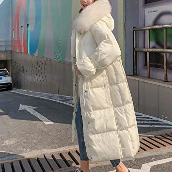 Amazon.com: Excellent Value Besde Womens Autumn and Winter Fashion Faux Fur Winter Hooded Wild Elegant Solid Jacket Coat Warm Plush Fishtail Long Down ...